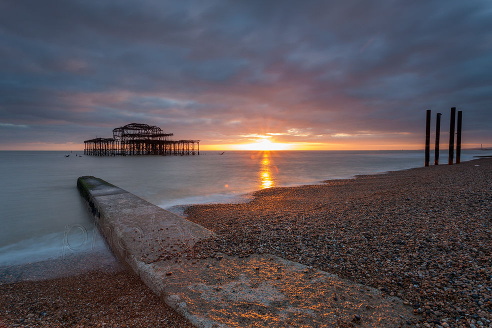 Sunset at West Pier ruins