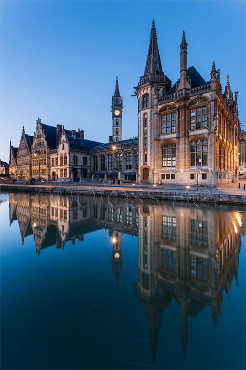 Night falls in Ghent