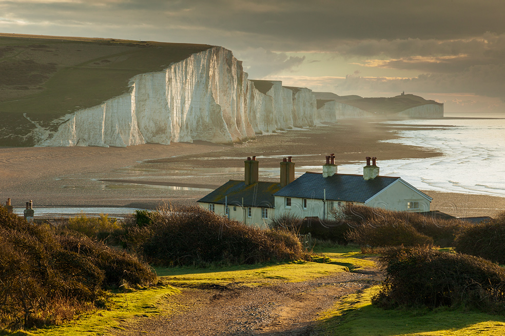 Coastguard Cottages and Seven Sisters on a winter morning