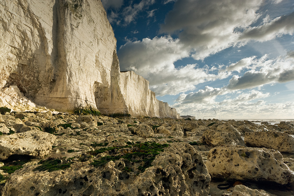 Low tide at Seven Sisters on the Sussex coast