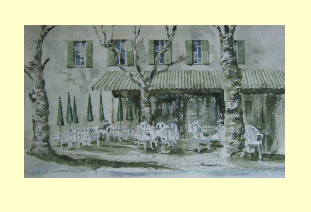 106 Lagrasse, France. 25 x 27cm £170