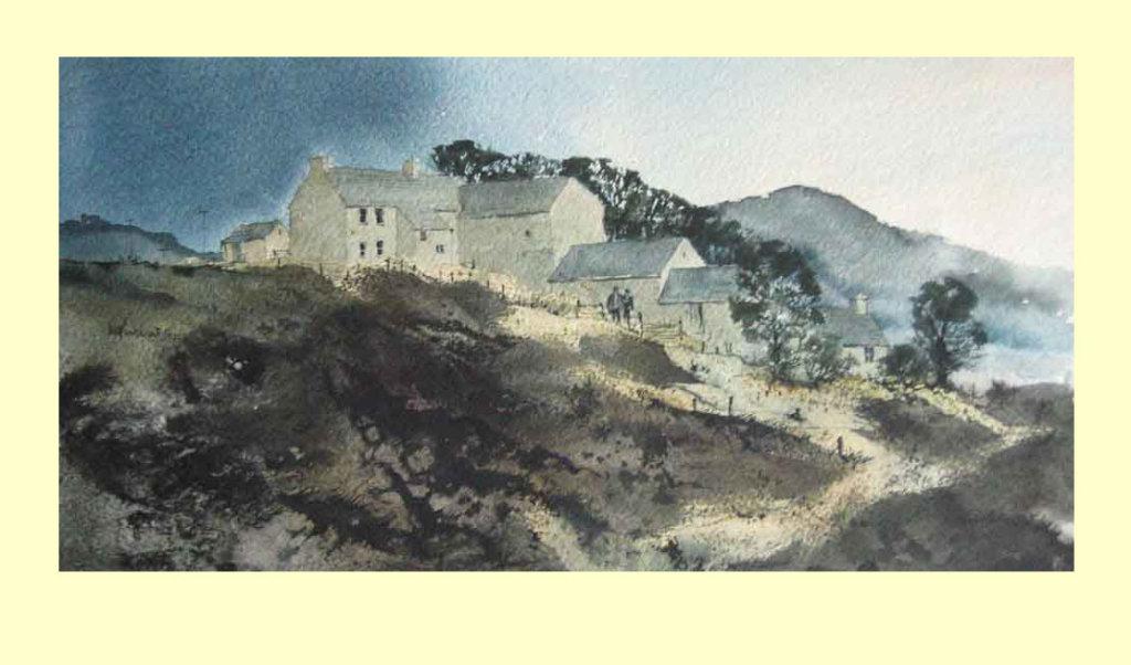 158 Welsh Mountain Textures 37 x 18cm £170