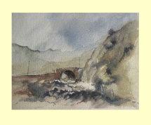 159 Pont y Gromlech - Llanberis Pass, Wales. 29 x 22cm £150