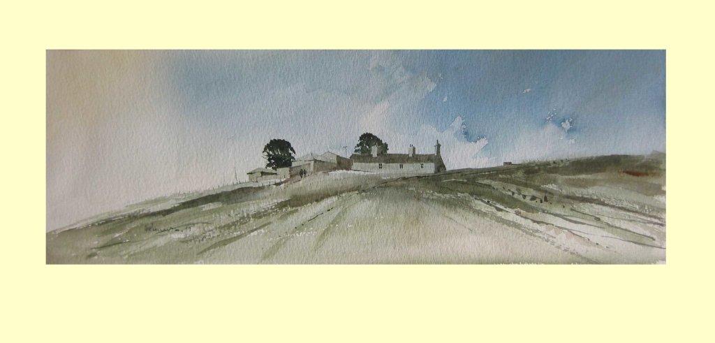 164 Pennine Farm. 44 x 15cm £190