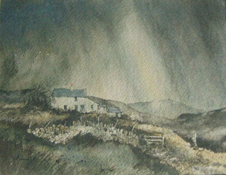 185 Pennine Landscape. 25.5 x 19.5cm