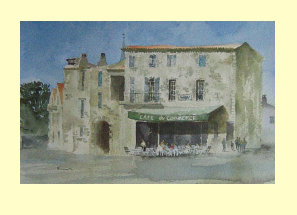 213 Café du Commerce, Southern France. 36 x 23.5cm £220 SOLD