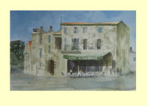 213 Café du Commerce, Southern France. 36 x 23.5cm £220 SOLD