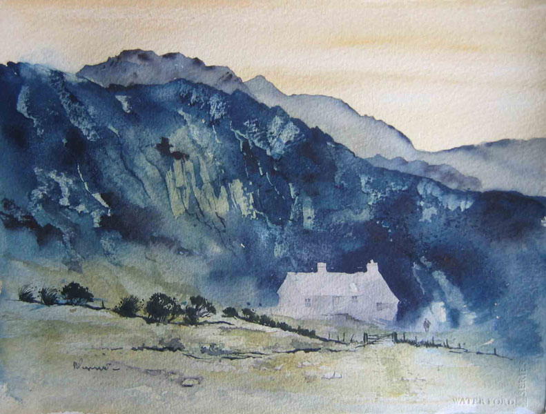219 The Mountains of Wales. 30 x 22.8cm