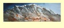 233 Melting Snows in the Pre Alpes 54 x 17cm