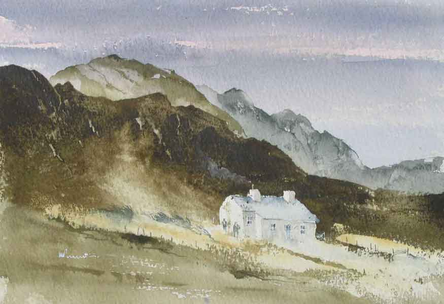 247 Welsh Mountains - Smoking Chimney. 25 x 17.5cm