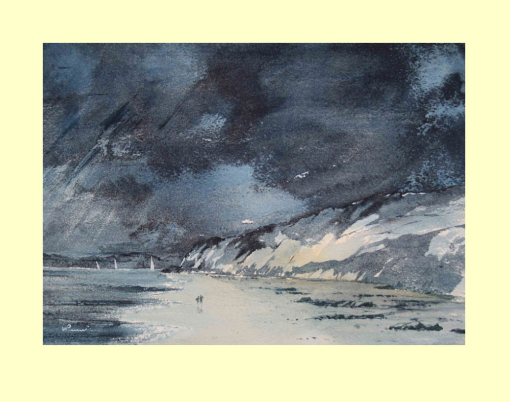 274 Storm over the Brittany Cliffs 31 x 22.5 cm £260