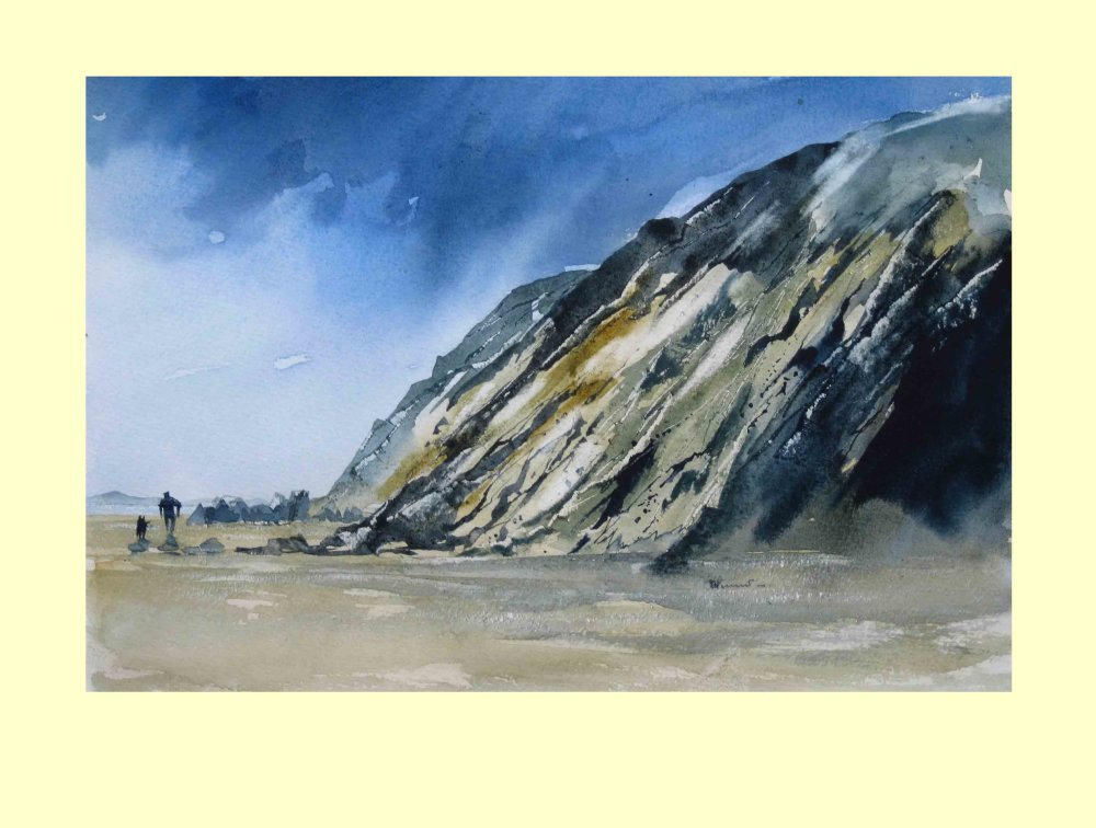 279 Clearing Skies over the Brittany Cliffs 35 x 25cm £330