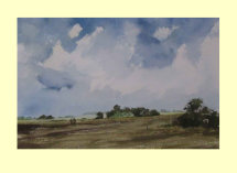283 Lincolnshire Fields - After Harvest 36 x 25cm £290
