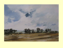 284 Lincolnshire Hedgerows at Harvest 35 x 23cm £275