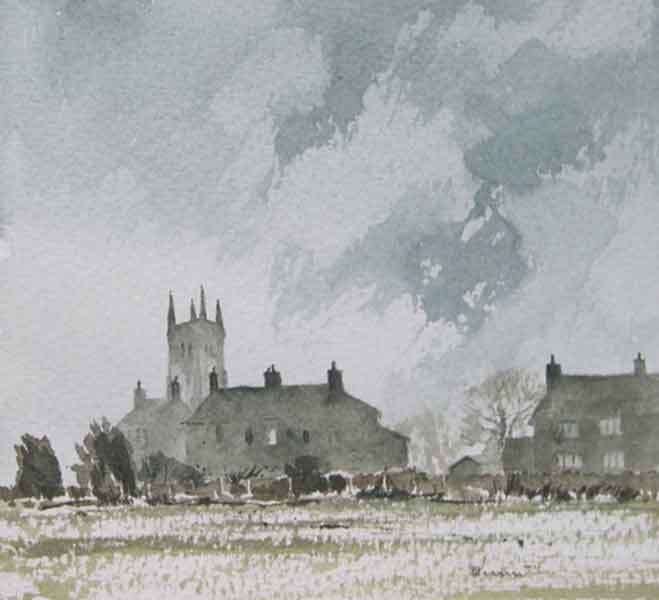 297 Cold & Frost Morning - Wragby 17 x 16.5cm