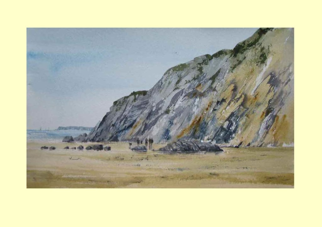 302 Rock Formations by the Brittany Coast 50 x 28cm NFS