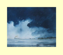 313 Storm Departing Hell's Mouth 33 x 28cm £280