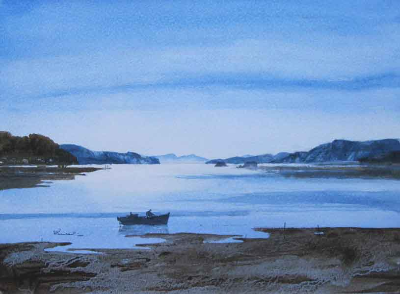 316 Isolation & Low Tide 36 x 26cm SOLD