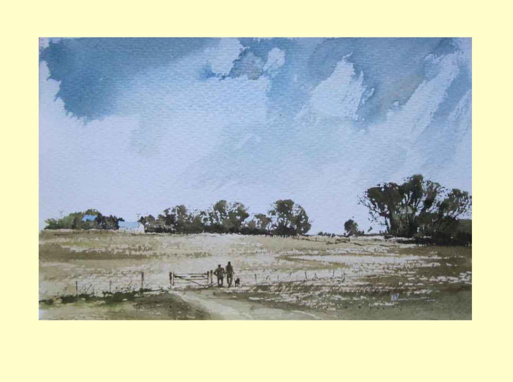 317 Lincolnshire - Departing Summer 26 x 17cm £145