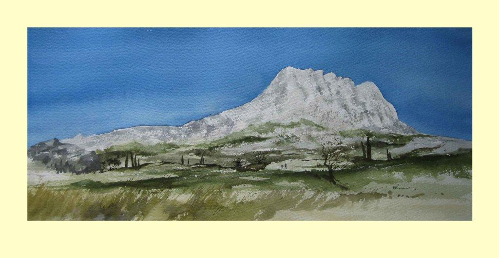 318 Striding to a Sunlit Mont Sainte Victoire, Provence 52.5 x 20.5cm £380
