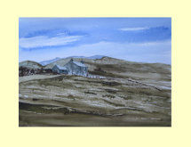 322 Moorland Textures in the Pennines 35 x 25cm £290