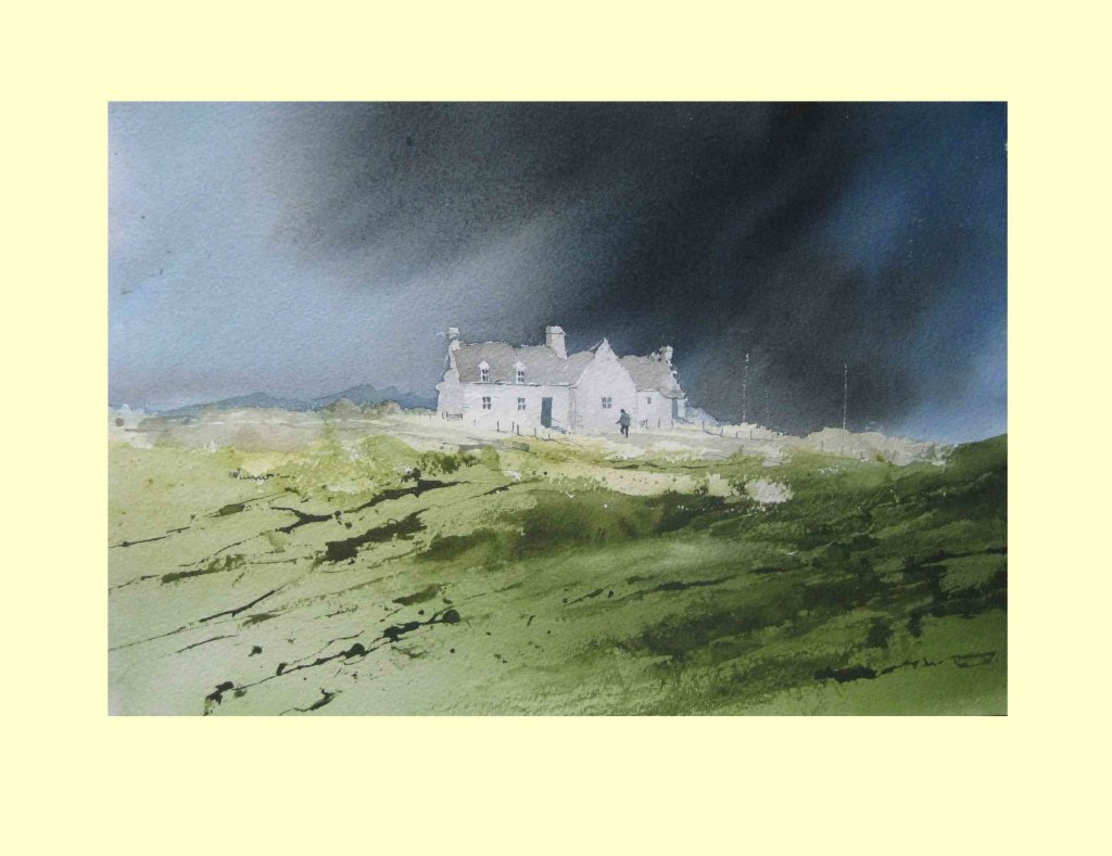 354 Isolated Steading 36 x 25cm £225
