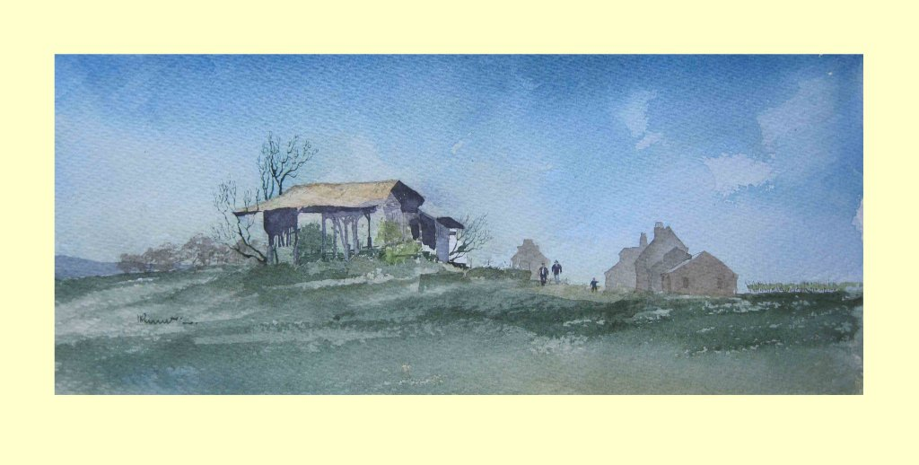 363 Spring comes late to the Dordogne 38 x 16cm £150