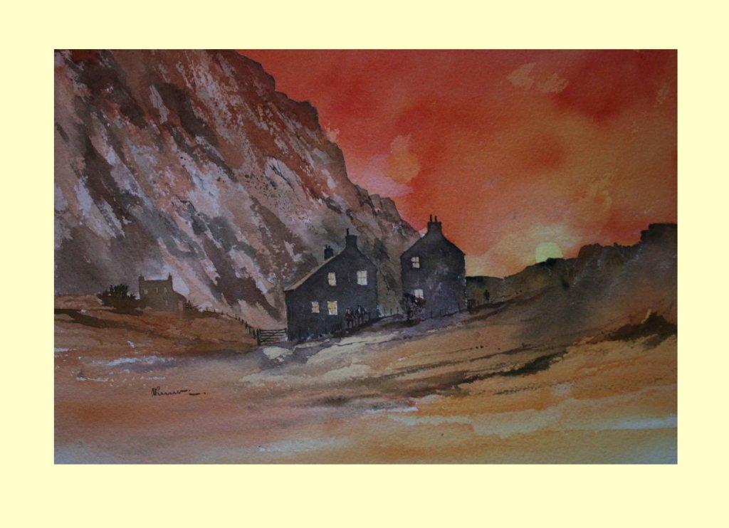 371 Red Mountain Landscape Textures 3    36 x 24cm