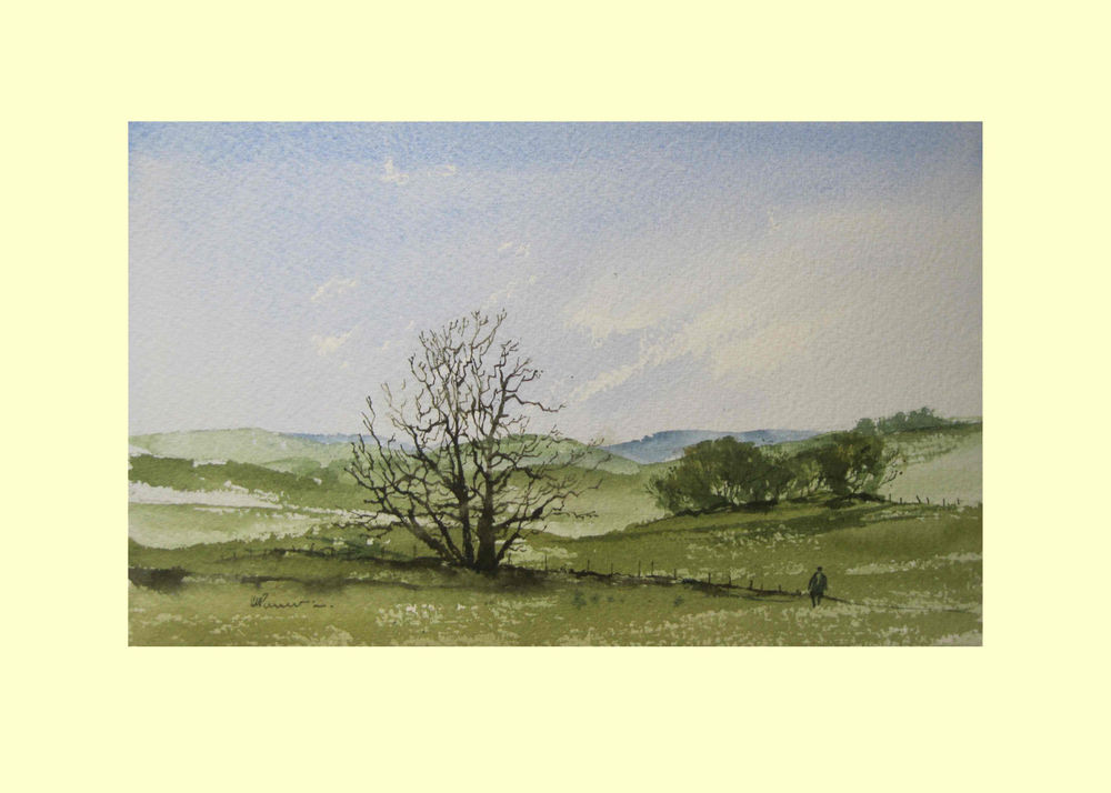 377 Some Leaves Come Late this Spring 26 x 16.5cm £180