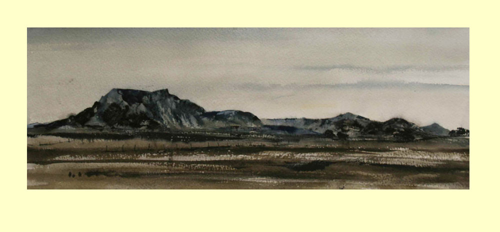 55 Blencathra from the Road to Caldbeck 53 x 20cm  £365