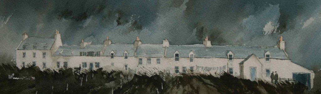 57 Skye - Cottages at Stein III 42 x13 cm