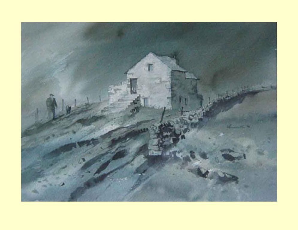 76 Welsh Shepherd on a Grey Day. 38 x 26cm £390
