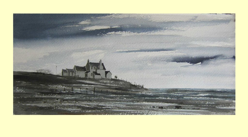 86 North West Coast, Cumbria, Towards Evening. 23.5 x 22.5cm  £145