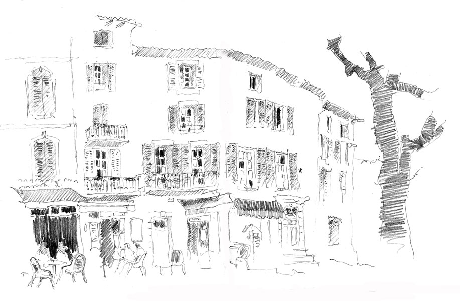 Café in Bargamon, France. Sketchbook 83 [34]