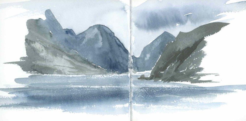 Marscoe from Elgol, Skye. Sketchbbok 34 [16]