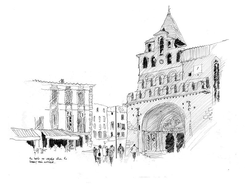 Moissac, France. Sketchbook 62 [90]