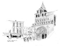 Moissac, France. Sketchbook 62 [90]
