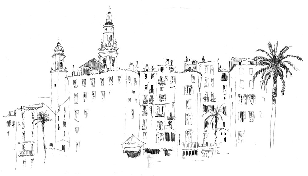 Menton, France 2. Sketchbook 74 [96]
