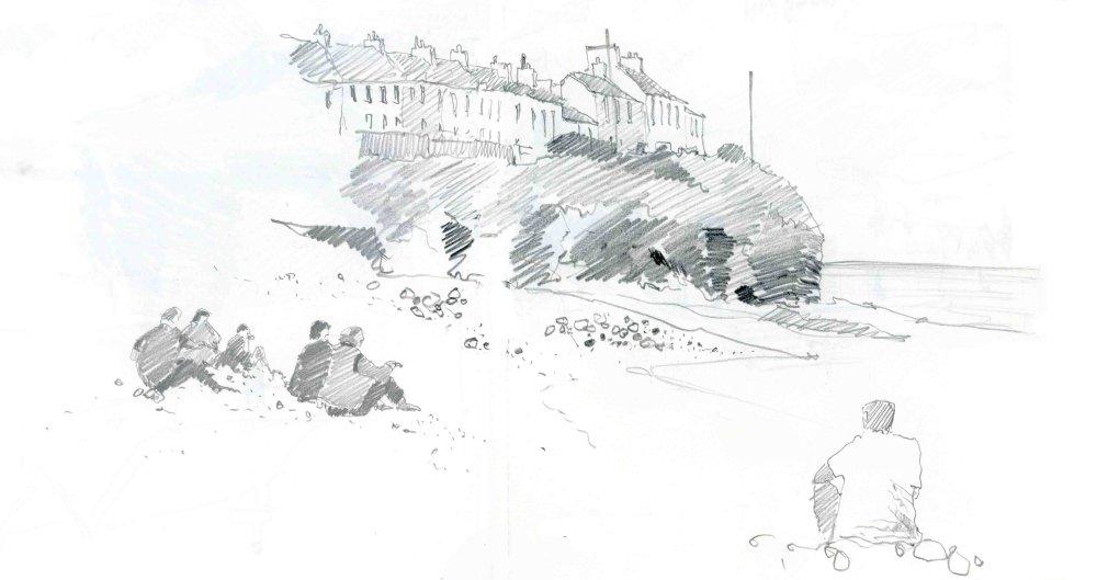 New Quay Head, Wales. Sketchbook 26 [134]