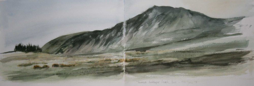 Twilight - Towards Carrick Fell. Sketchbook 41 [5]