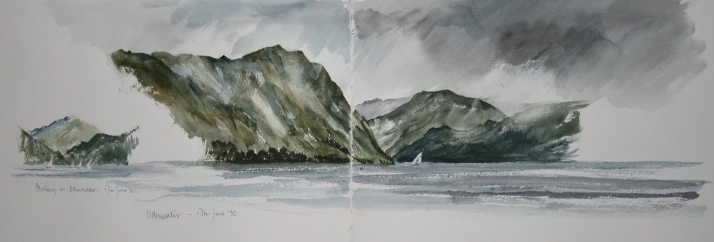 Boating on Ullswater. Sketchbook 41 [13]