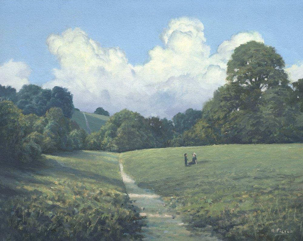 Bugs Bottom, Caversham. with Cumulous Clouds