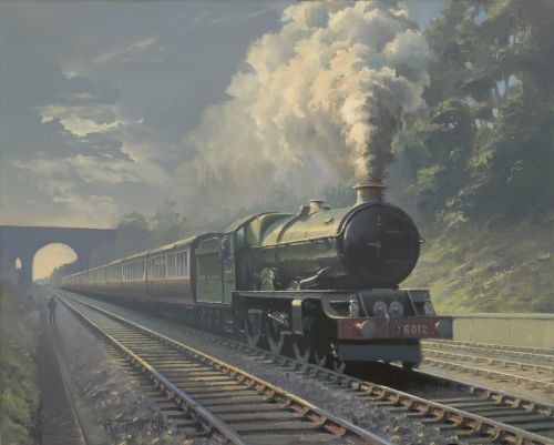 King class locomotive in Sonning Cutting