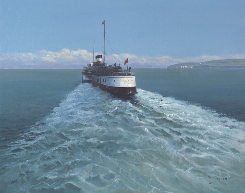 Old Harry Rocks with Paddle Steamer