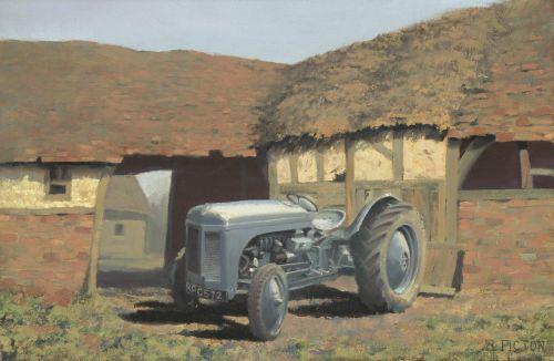 Tractor & Barn