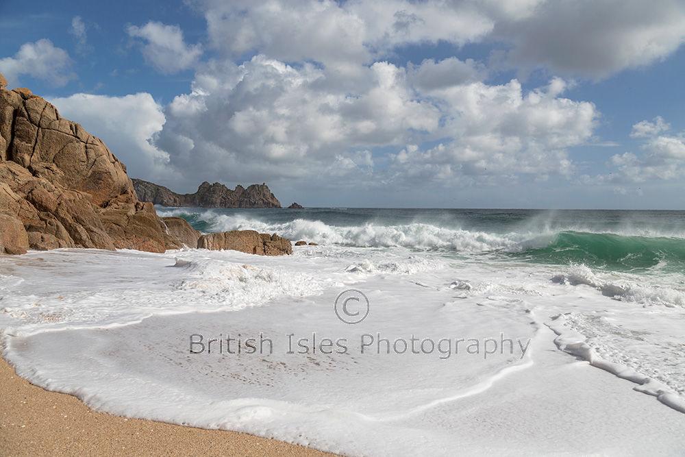 Sea Foam, Porthcurno Beach, Cornwall