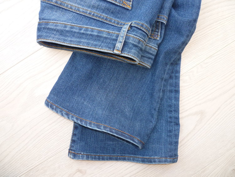 Jeans with 'magic hem'