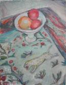 Fruit and jungle carpet.