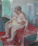 Large nude sitting.