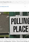 2014 election Polling Place sign used in the Guardian.